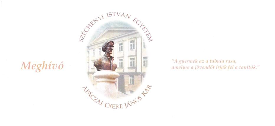 Emlékdiploma-átadó ünnepség 2018. szeptember 27. Apáczai Csere János Kar