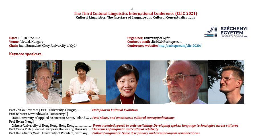 The Third Cultural Linguistics International Conference (CLIC-2021)