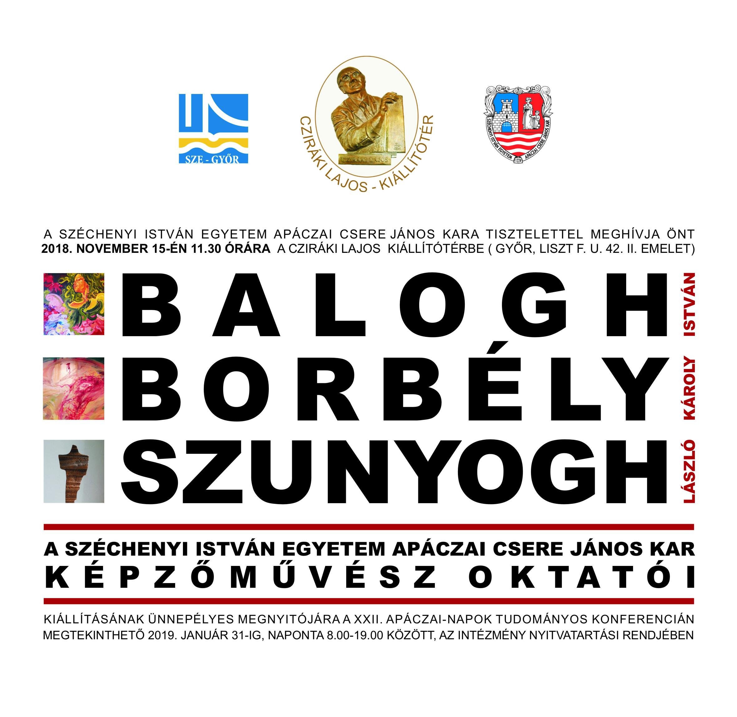 Balogh-Borbély-Szunyogh kiállítás